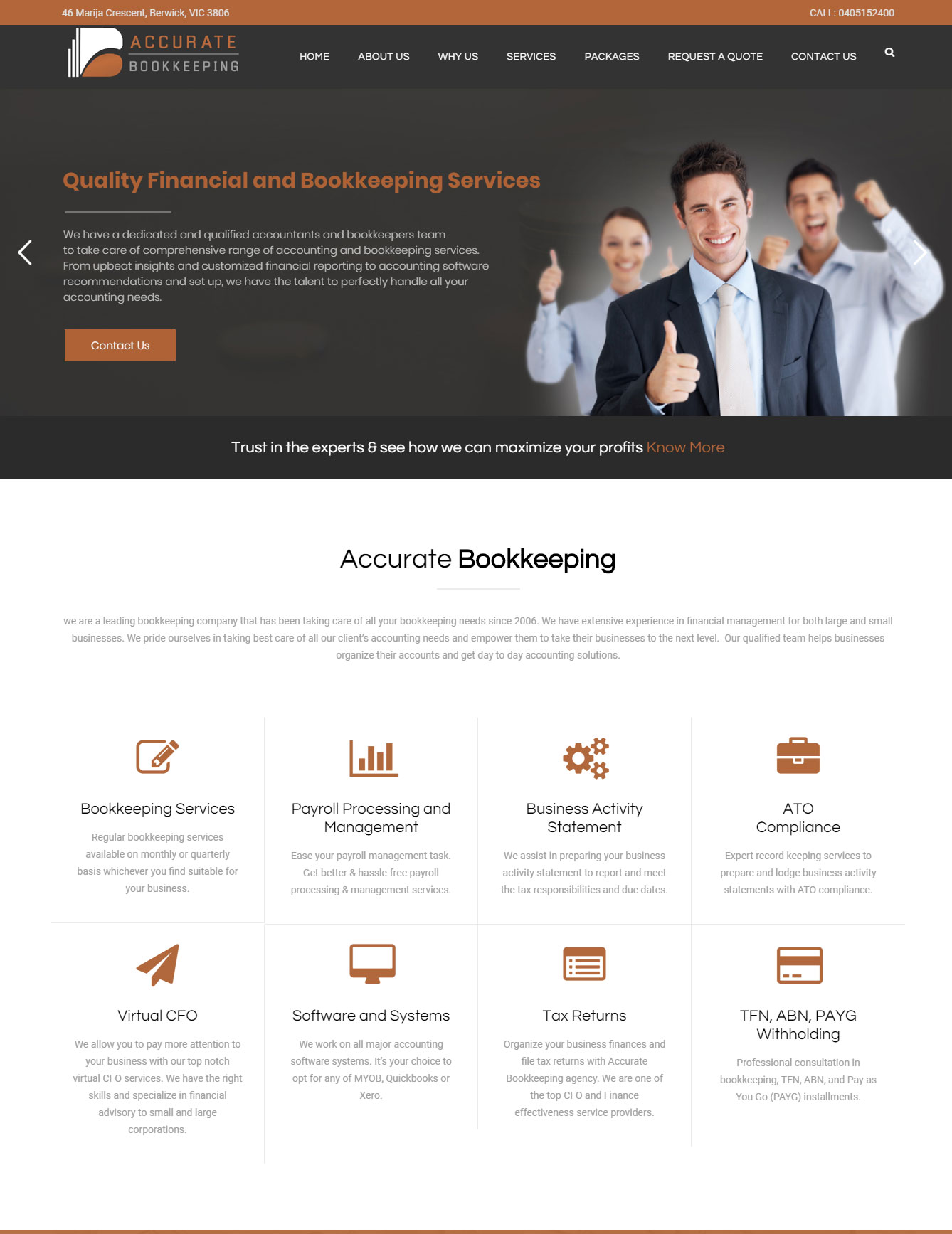 Bookkeeping company website design