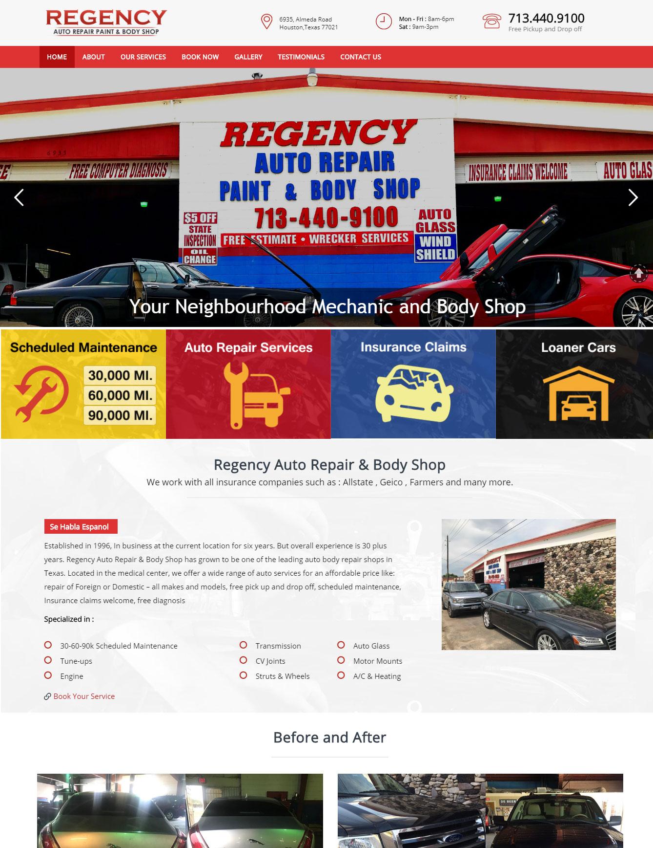 Auto repairs web design